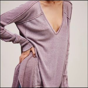 Free People Tops - Free People Pacific Thermal Dusty Pink S